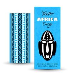African Tribal Art Banners vector