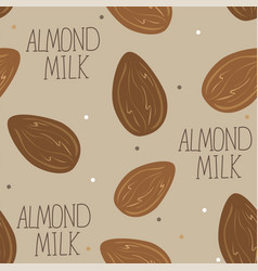 almond milk - set of design elements and vector image