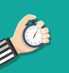 analog chronometer timer counter in hand vector image