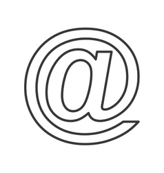 Arroba symbol isolated icon vector