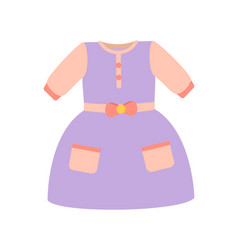 Baby clothes girl dress poster vector