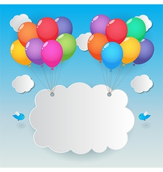 Balloons sky background vector