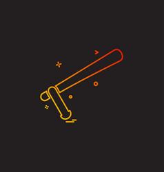 baton nightstick police baton stick truncheon vector image