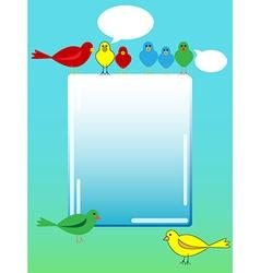 Bird advertisement vector image
