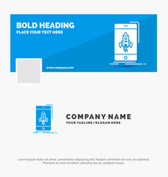 blue business logo template for game gaming start vector image