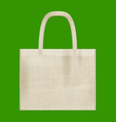 Canvas cotton textiles eco bag natural color vector