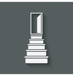 career ladder concept vector image