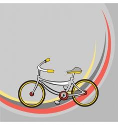 cartoon bicycle vector image