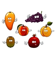Cartoon ripe isolated fruit characters vector