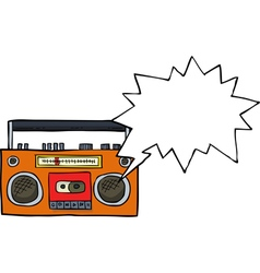 cassette player vector image