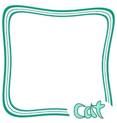 Cat Frame vector image