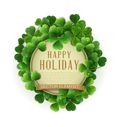 circle with space for text in a frame of shamrocks vector image