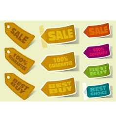 Collection of sale stickers vector