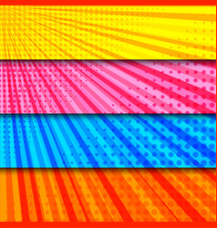 Colorful horizontal dynamic comic banners vector