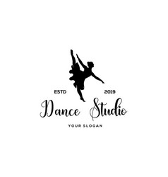 dance studio logo vector image