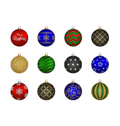 decorated christmas balls vector image