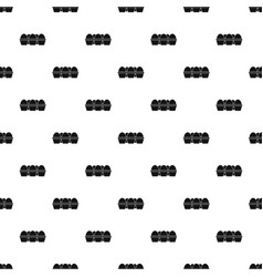 Eggs in carton package pattern vector
