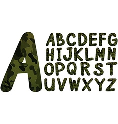 English font design with military theme vector