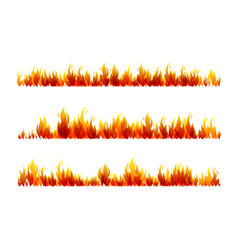 Fire horizontal dividers collection vector