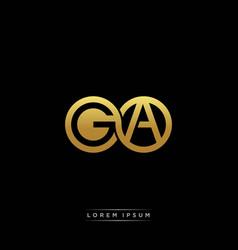 Ga initial letter linked circle capital monogram vector