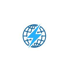 globe power logo icon design vector image