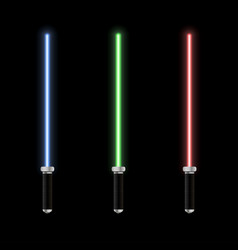 Glowing lightsaber vector