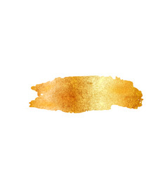 gold glitter foil brush stroke golden vector image