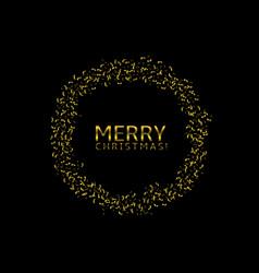 golden confetti label vector image