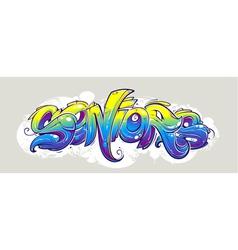 Graffiti lettering wild style vector