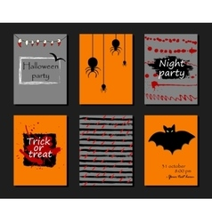 Halloween party invitation greeting card flyer vector