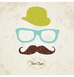 Hipster doodle vintage hand-drawn man vector image vector image