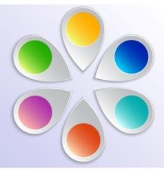 Infographic pointer design elements vector