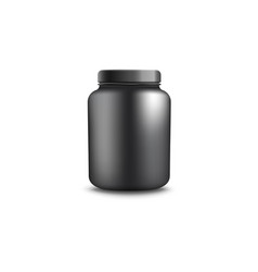 Jar or container for protein realistic vector
