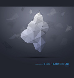 Low polygon geometry elements abstract geometric vector