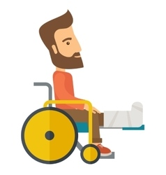 Man in a wheelchair vector