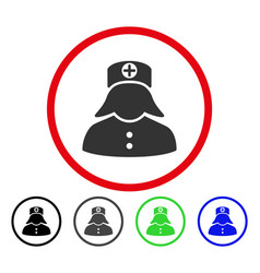 nurse rounded icon vector image