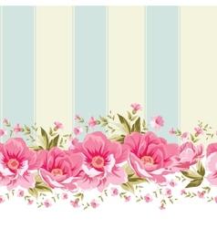 Ornate pink flower border with tile vector