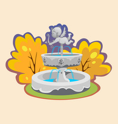 Part from set of outdoors fountain for gardening vector