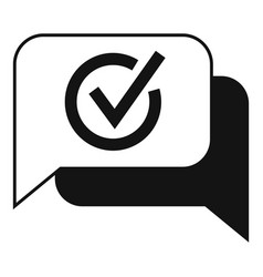 Quality chat icon simple ask question vector