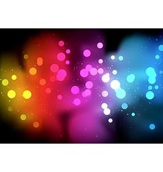 Rainbow bokeh background vector