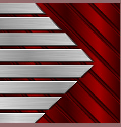 red metal striped background vector image