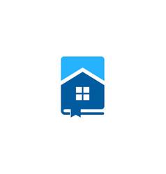 Resident book logo icon design vector