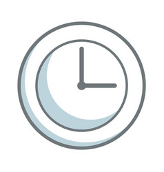 round clock time hour business object icon vector image