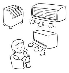 Set air conditioner vector