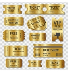 Set eleven tickets and coupons templates vector
