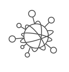 Simple line icon to represent the internet vector