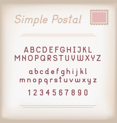 simple postal alphabet vector image