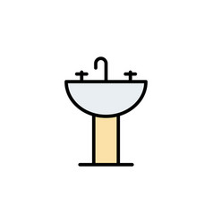 Sink flat icon sign symbol vector