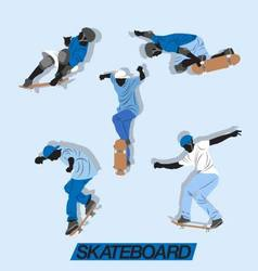 skate up vector image