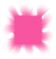 smoke pink square on a white background vector image